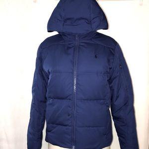 Youth (girls/boys) POLO RALPH LAUREN Puffer Sport/Coat Jacket Blue SzL (14-16)
